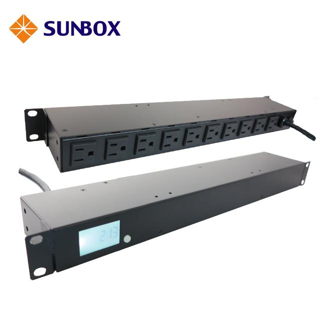 PDU 10孔20安培機架電源排插,LCD電錶,SUNBOX 出品