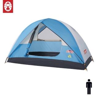 【美國 Coleman】Sundome Tent Cyan 日光浴1人帳篷 天藍色 登山 雙窗 透氣 防雨(庫存福利品)